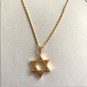 Other - Star of David necklace 18k gold plated